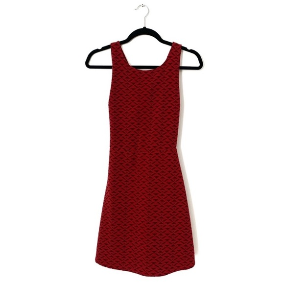 BURGUNDY CROSS BACK RED HOLIDAY DRESS BY HOLLISTER
